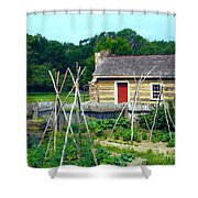 Herb And Vegetable Garden Shower Curtain
