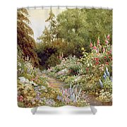 Herbaceous Border  Shower Curtain