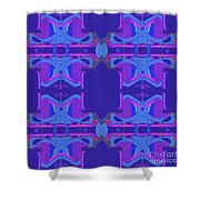 Herbern Blue Shower Curtain