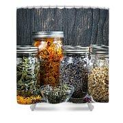 Herbs In Jars Shower Curtain