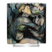 Hercule And Omphale Shower Curtain