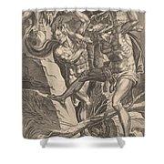 Hercules Killing Cacus Shower Curtain