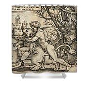 Hercules Killing The Nemean Lion Shower Curtain