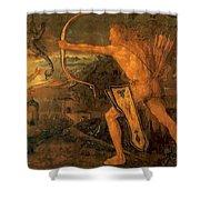 Hercules Kills The Symphalic Bird 1520 Shower Curtain