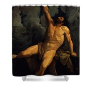 Hercules On The Pyre 1617 Shower Curtain