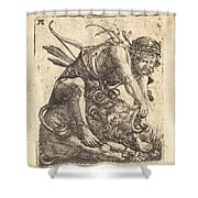 Hercules Overcoming The Nemean Lion Shower Curtain