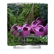 Herd Of Watering Cans Shower Curtain