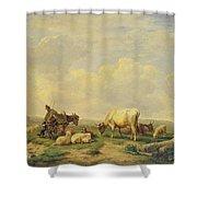Herdsman And Herd Shower Curtain