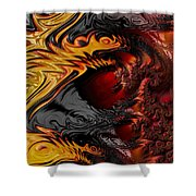 Here Be Dragons Shower Curtain