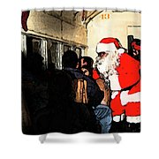 Here Come Santa Shower Curtain