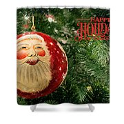 Here Comes Santa Claus Shower Curtain