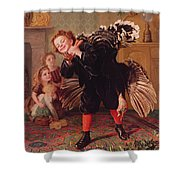 Here Comes The Gobbler Shower Curtain