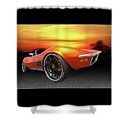 Here Comes The Sun - '72 Stingray Shower Curtain