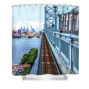 Here Comes The Train Shower Curtain