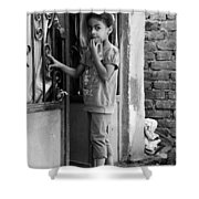 Here Here Is Home  Shower Curtain