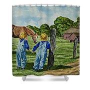 Here Horsey Horsey Shower Curtain