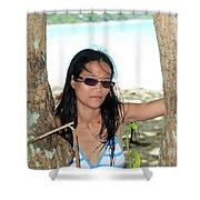 Here I Am Bug Shower Curtain