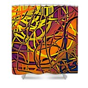 Here Shower Curtain