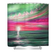 Here It Goes - Square Sunset Painting Shower Curtain