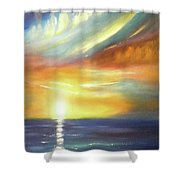 Here It Goes - Vertical Colorful Sunset Shower Curtain
