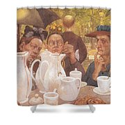 Here The Family Can Make Coffee Shower Curtain