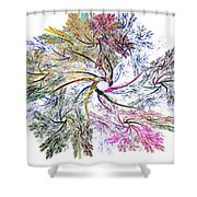 Here There Be Dragons Shower Curtain