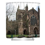 Hereford Cathedral  England Shower Curtain
