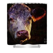 Hereford Cow Shower Curtain