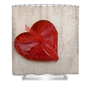 Here's My Heart Shower Curtain