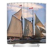Heritage Full Sail Shower Curtain