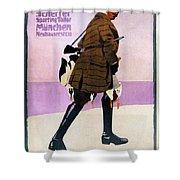 Hermann Scherrer Sporting Tailor - Munich, Germany - Vintage Advertising Poster Shower Curtain