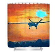 Hermes U A V 450 British Army Shower Curtain