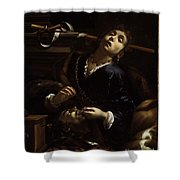 Herodias With The Head  Shower Curtain