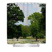 Heroes And A Monument Shower Curtain