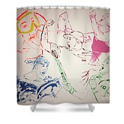 Heroes Celebrate Shower Curtain