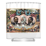Heroes Of African American History - 1881 Shower Curtain
