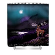 Heroic Landscapes #22- Great Irish Elk Shower Curtain