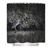 Heron 1 Artistic  Shower Curtain