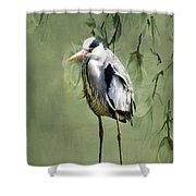 Heron Egret Bird Shower Curtain