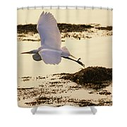 Heron Fly-by Shower Curtain