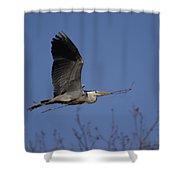 Heron Nest Building Shower Curtain