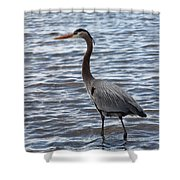 Heron On  Lake Guntersville Shower Curtain