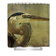 Heron On Texture Shower Curtain