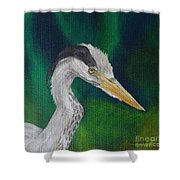 Heron Painting Shower Curtain