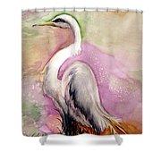 Heron Serenity Shower Curtain
