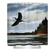 Heron Silhouette Shower Curtain