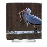Heron With Perch Shower Curtain