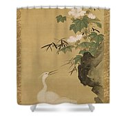 Herons And Cotton Roses Shower Curtain