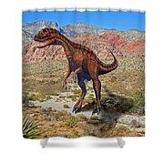 Herrarsaurus In Desert Shower Curtain