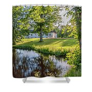 Herrevads Kloster By The Riverside Shower Curtain